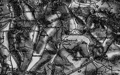 Old map of Callestick in 1895