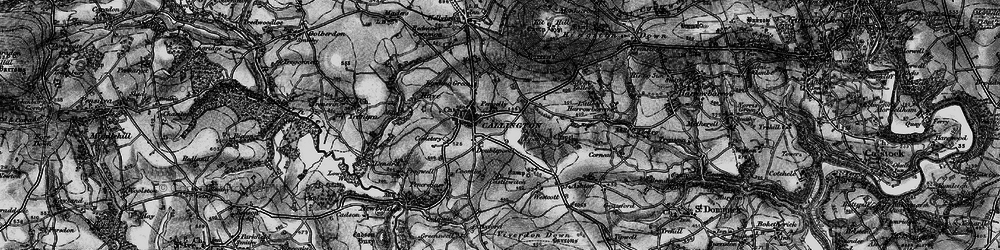 Old map of Westcott in 1896