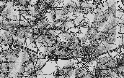 Old map of Calloose in 1896