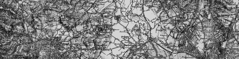 Old map of Calmore in 1895