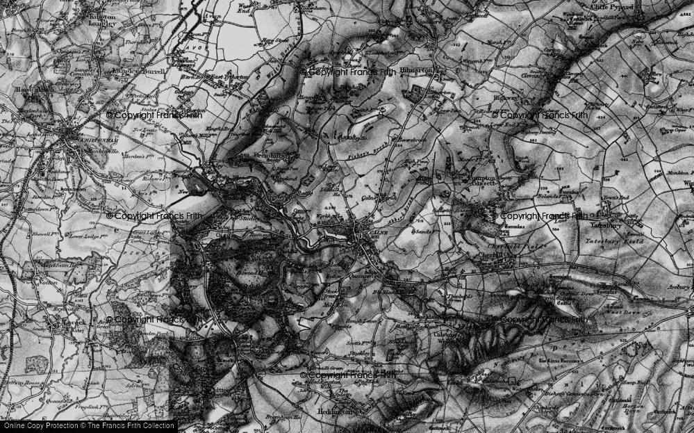 Old Map of Calne, 1898 in 1898