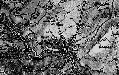 Old map of Calne in 1898