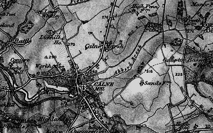 Old map of Abberd Brook in 1898