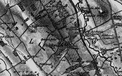 Old map of Wool Oaks Mill in 1897