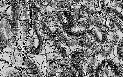 Old map of Calvadnack in 1895