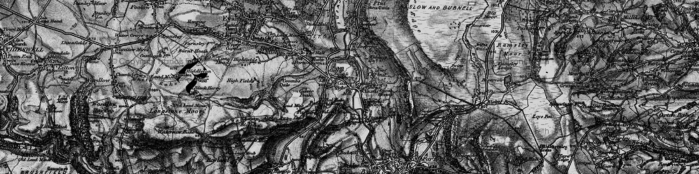 Old map of Calver in 1896