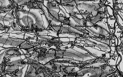 Old map of Leigh Barton in 1898