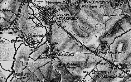 Old map of Calverton in 1896