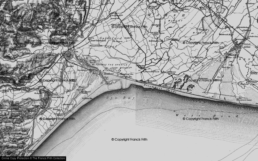 Old Map of Camber, 1895 in 1895