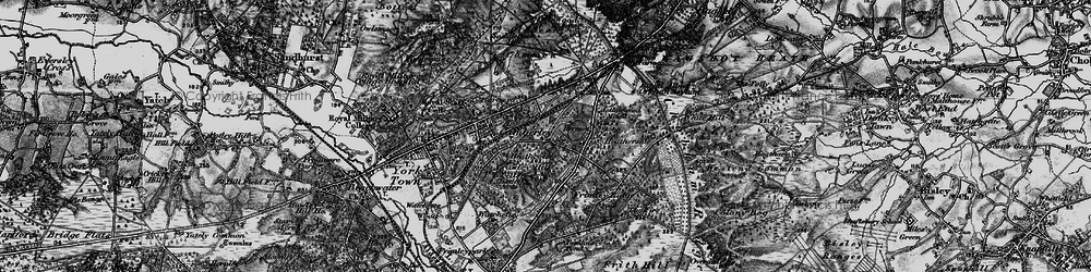 Old map of Camberley in 1895