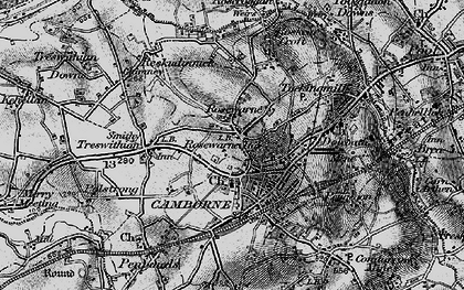 Old map of Camborne in 1896