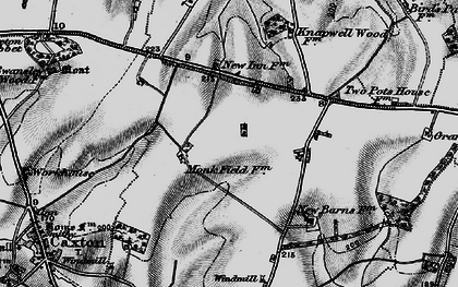 Old map of Cambourne in 1898
