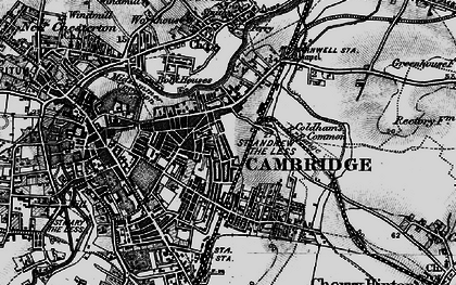 Old map of Cambridge in 1898