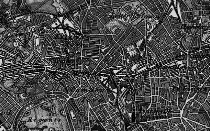 Old map of Camden Town in 1896
