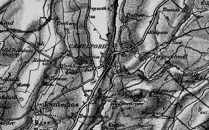 Old map of Camelford in 1895