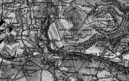 Old map of Abney Moor in 1896