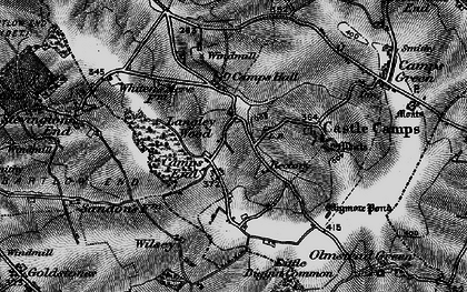 Old map of Camps End in 1895