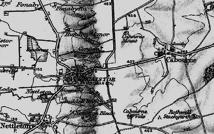 Old map of Whitegate Hill in 1899