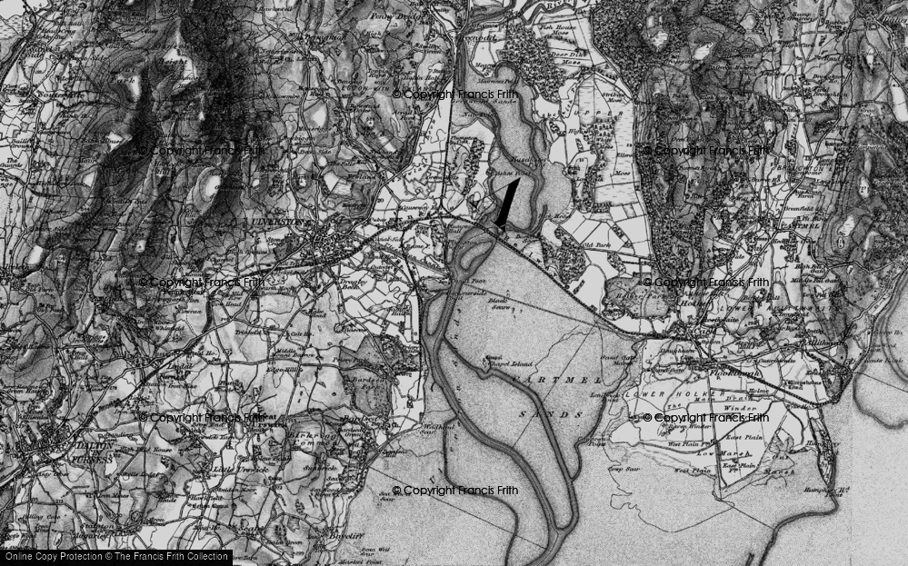 Old Map of Historic Map covering Barker Scar in 1898