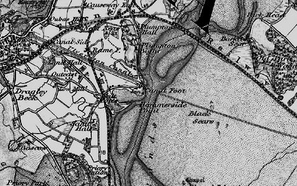 Old map of Barker Scar in 1898
