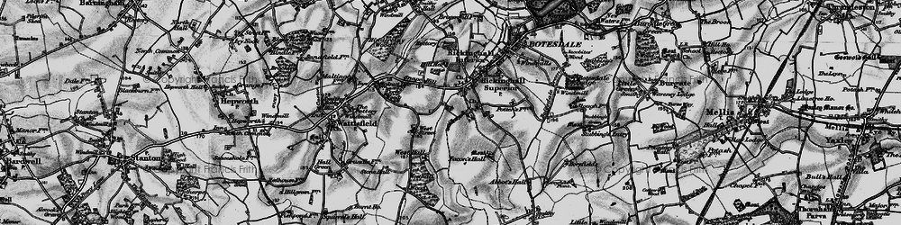 Old map of Westhall Wood in 1898