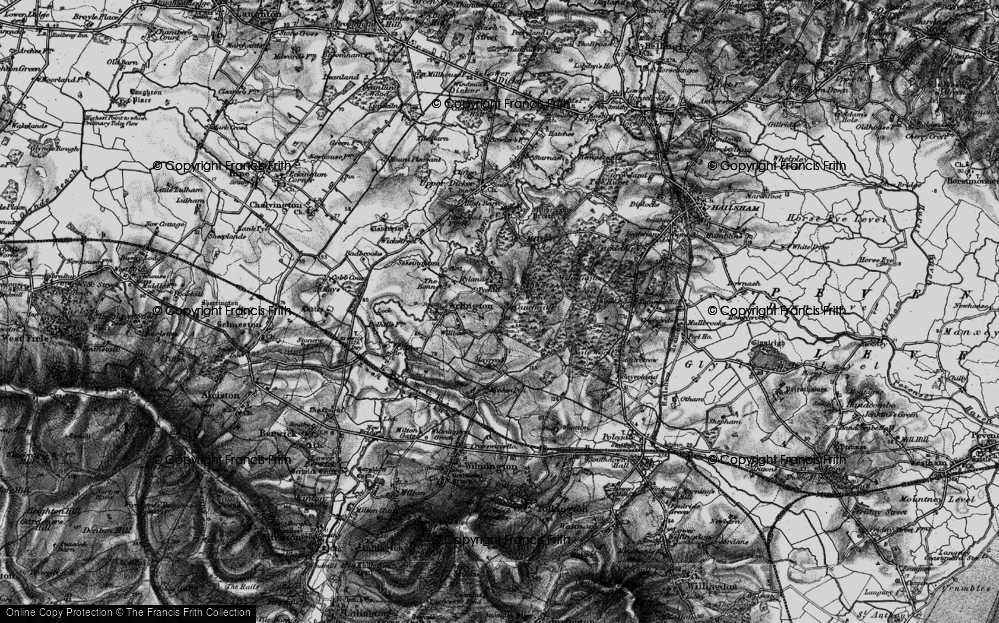 Old Map of Historic Map covering Abbot's Wood in 1895