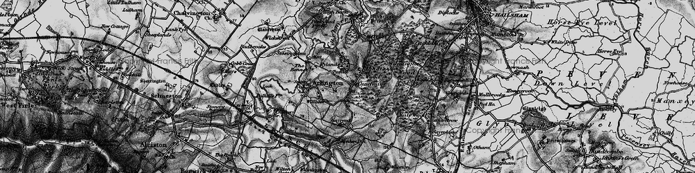 Old map of Abbot's Wood in 1895