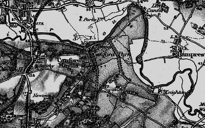 Old map of Canford Magna in 1895