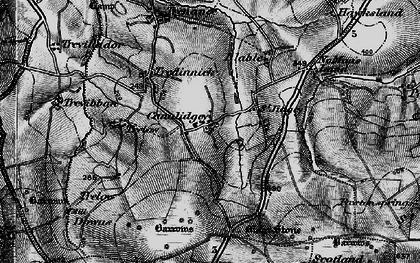 Old map of Cannalidgey in 1895