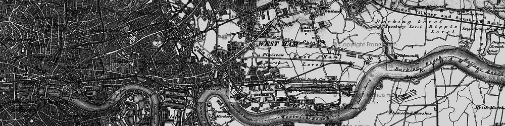 Old map of Canning Town in 1896