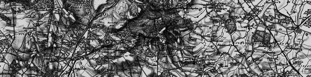 Old map of Cannock Wood in 1898