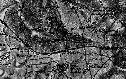 Old map of Ashby Gorse in 1896