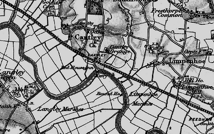 Old map of Langley Marshes in 1898