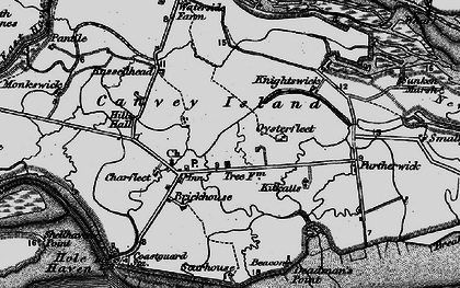Old map of Canvey Island in 1896