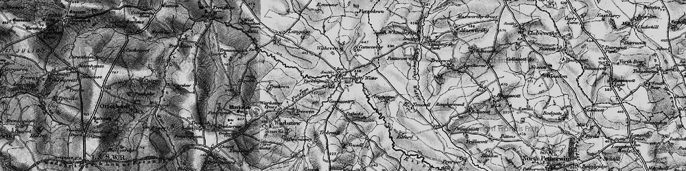 Old map of Wiggaton in 1895