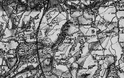 Old map of Capel in 1896