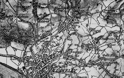 Old map of Capel in 1897