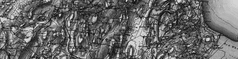 Old map of Ynys Fawr in 1899