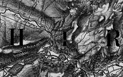 Old map of Capel Curig in 1899