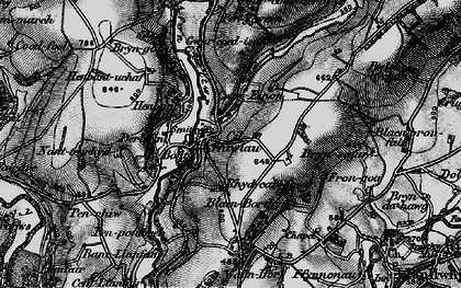 Old map of Afon Clettwr in 1898