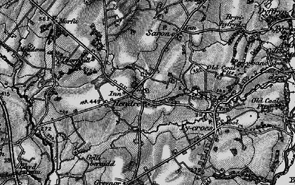 Old map of Capel Hendre in 1897