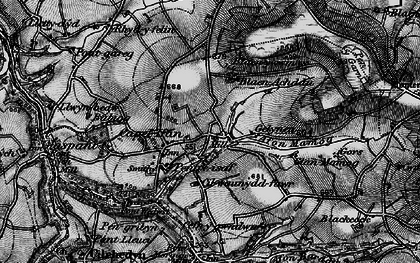 Old map of Capel Iwan in 1898