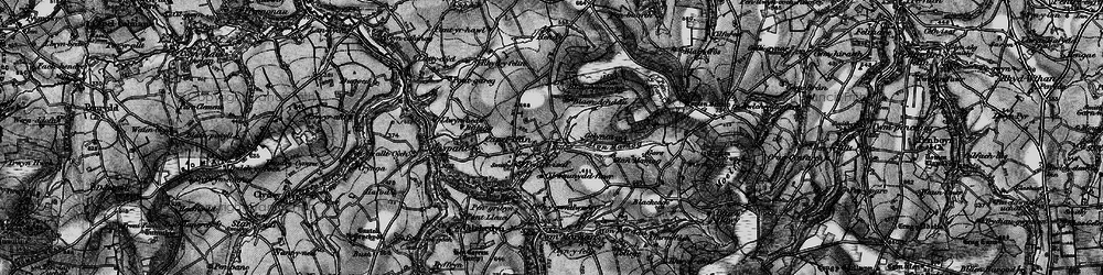 Old map of Afon Mamog in 1898