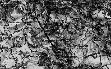 Old map of Capel Llanilltern in 1897