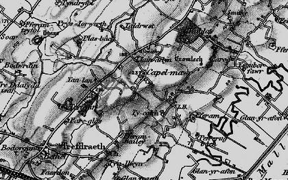 Old map of Ysgubor Fawr in 1899