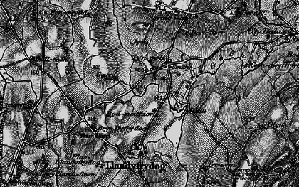 Old map of Afon Goch in 1899