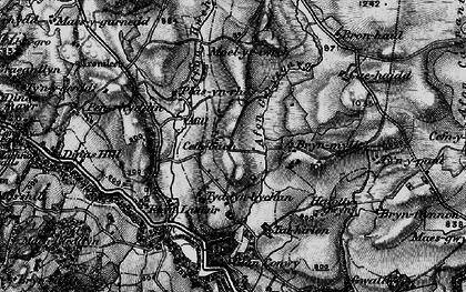 Old map of Afon Gwrysgog in 1899