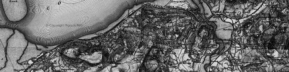 Old map of Capelulo in 1899