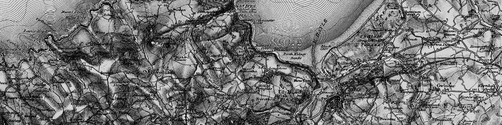 Old map of Carbis Bay in 1896