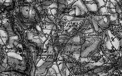 Old map of Carclaze in 1895